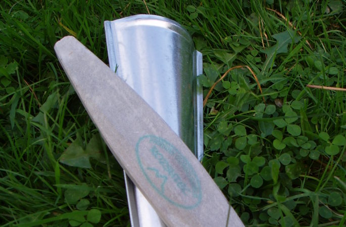 An extra fine sharpening stone and a stone holder