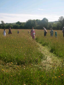 Walking the Labyrinth in the sunshine