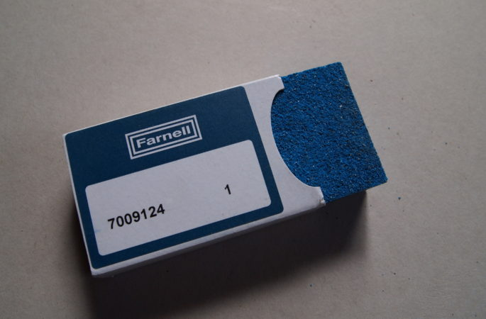 blue rubberised sanding block garryflex