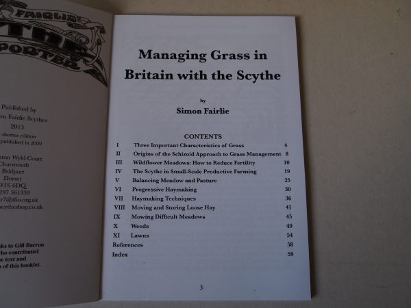 Managing Grass with a Scythe Contents